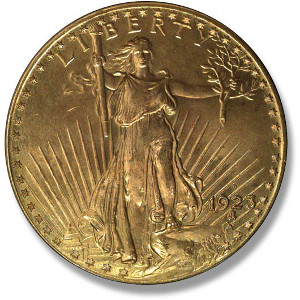 1923 Saint-Gaudens Double ($20) Eagle