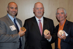 Nicholas L. Tranchitella, Richard Weaver, and Doug Davis received ACTF's annual Al Kreuzer Memorial Award.