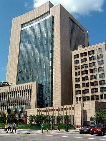Federal courthouse in Minneapolis for the U.S. District Court for the District of Minnesota.